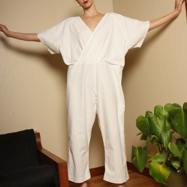 Vintage 40's WWII Cotton Workwear Jumpsuit