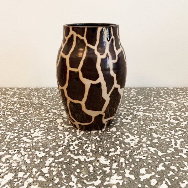 Brown + Cream Giraffe Vase
