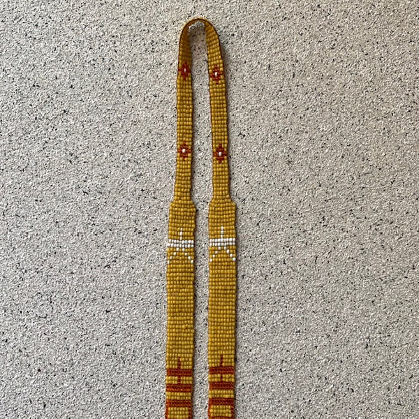 Antique 1920's Maize Loom Beaded Satoir Necklace