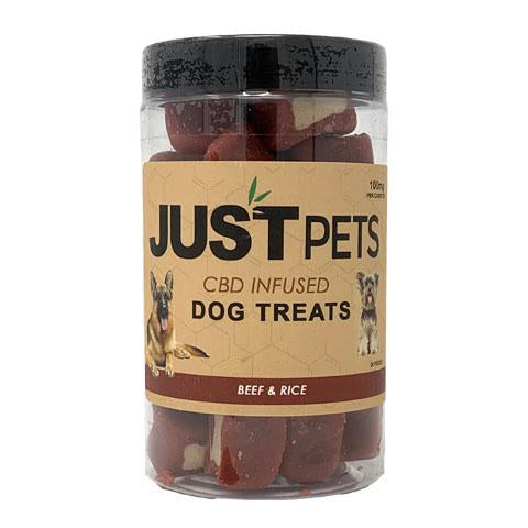 Just CBD - Dog Treats - 100mg - Beef and Rice