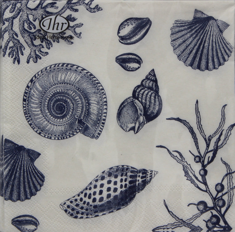 Blue Sea Shell Cocktail Napkins
