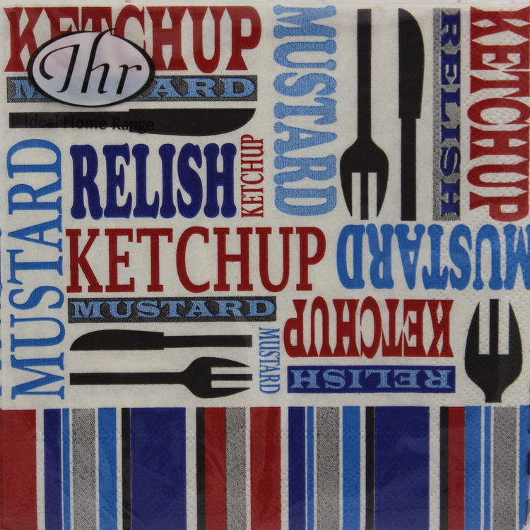 Picnic Condiment Cocktail Napkins