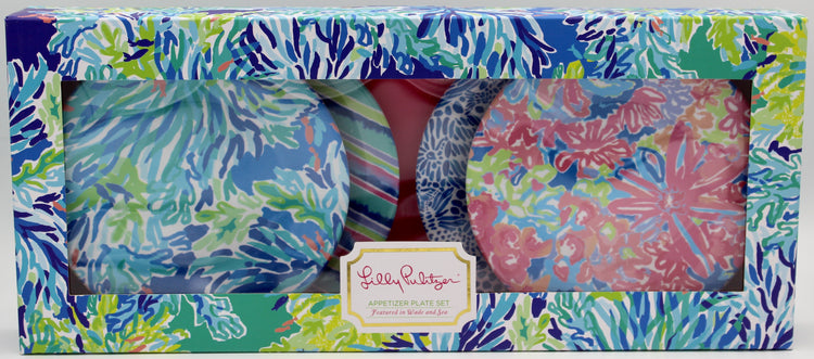 Lilly Pulitzer Appetizer Plate Set  - Wade and Sea