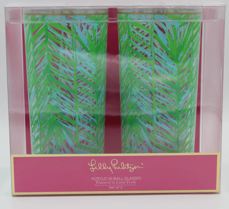 Lilly Pulitzer Highball Glasses - Costa Verda