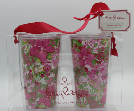Lilly Pulitzer Tumblers - Beach Rose