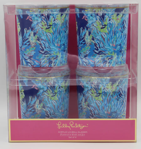 Lilly Pulitzer Lowball Glasses - Wade and Sea
