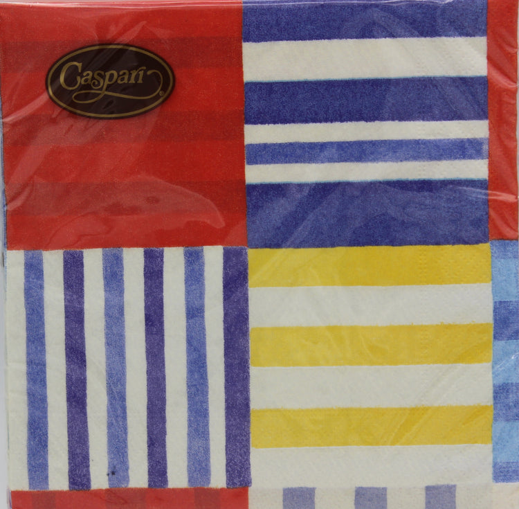 Striped Patchwork Nautical Napkins