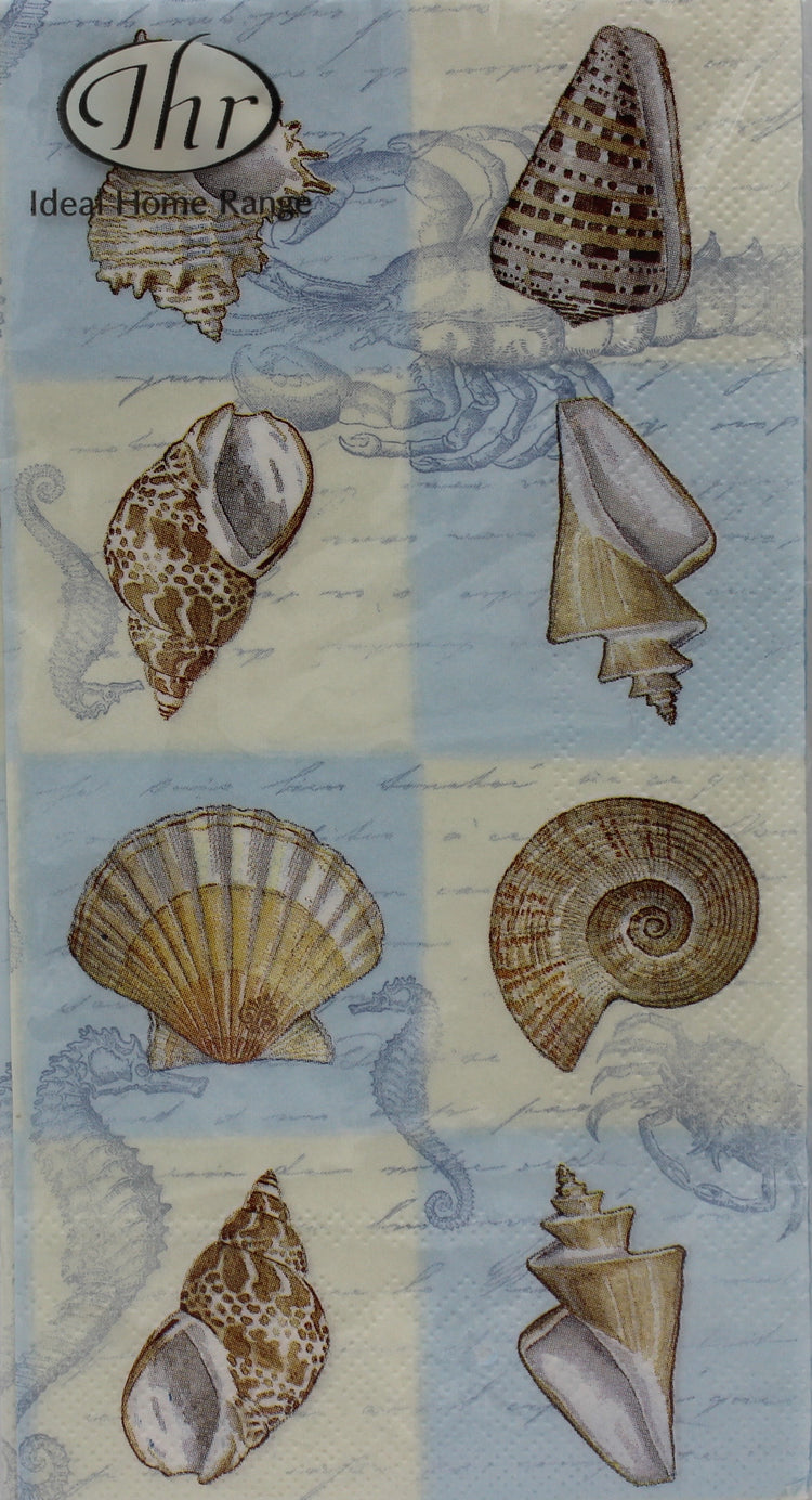 Sounds of the Sea Blue Sea Shell Guest Napkins