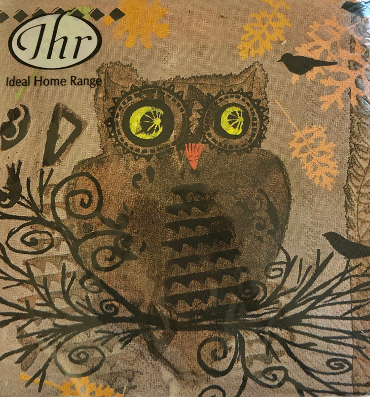 Watercolor Owl Cocktail Napkins