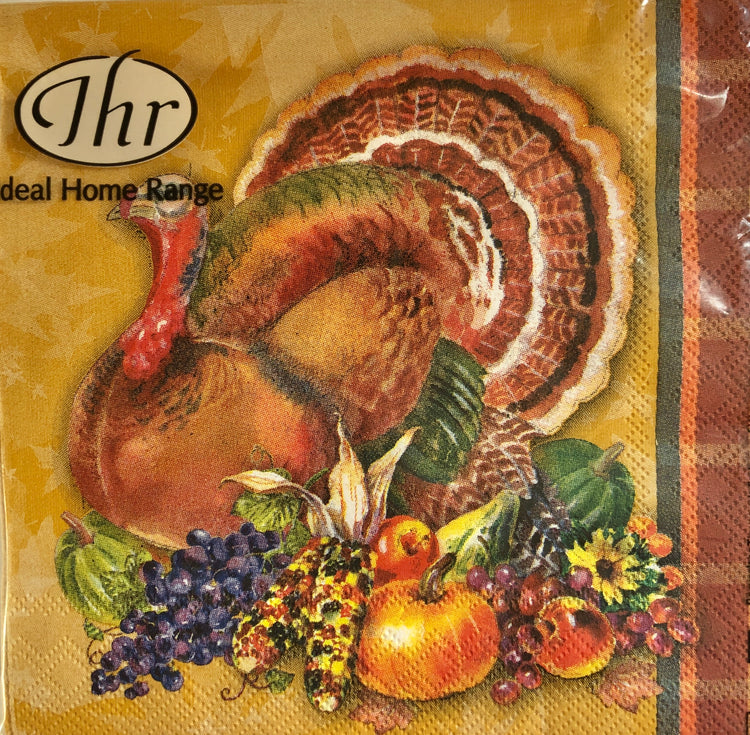 Autumn Turkey Cocktail Napkins
