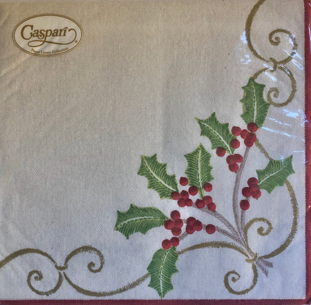 Holly Berry Christmas Cocktail Napkins
