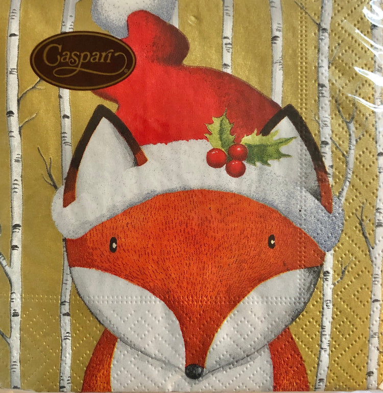 Foxy Christmas Cocktail Napkins
