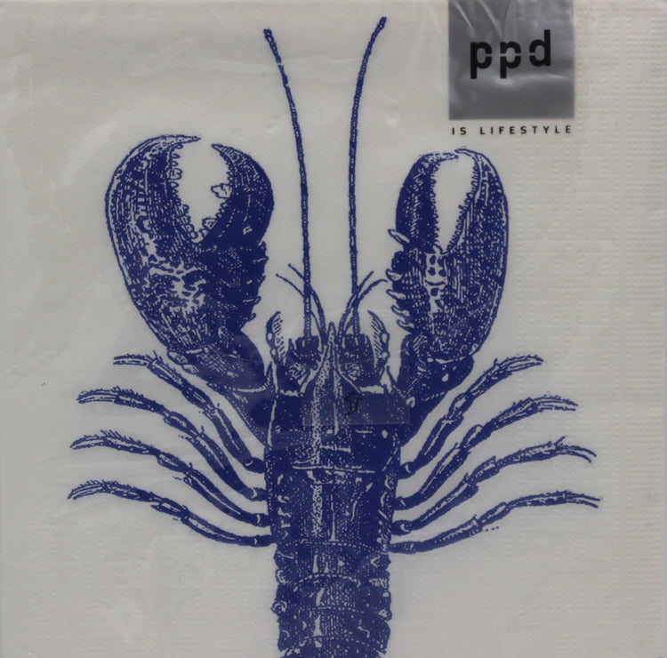 Lobster Napkins, Blue