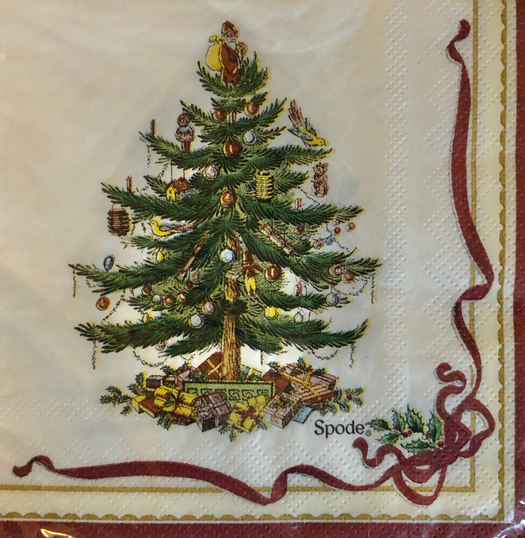 Decorated Christmas Tree Guest Towels