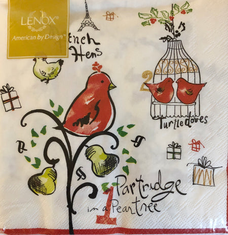 12 Days of Christmas Luncheon Napkins