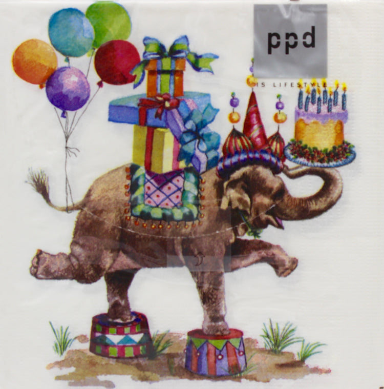 Elephant Birthday Napkins