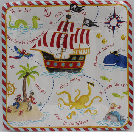 Pirate Salad/Dessert Plates - Square
