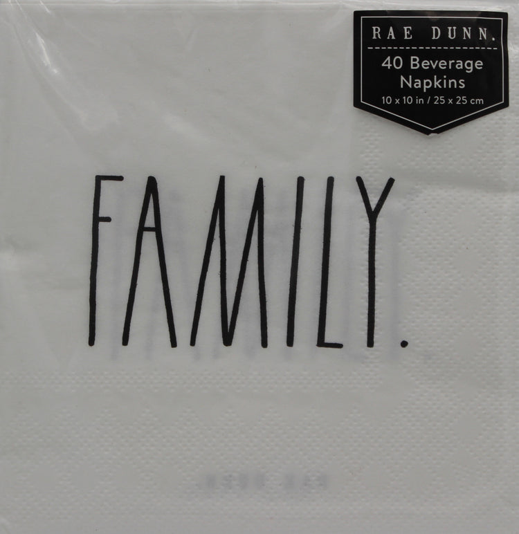 FAMILY. White Cocktail Napkins