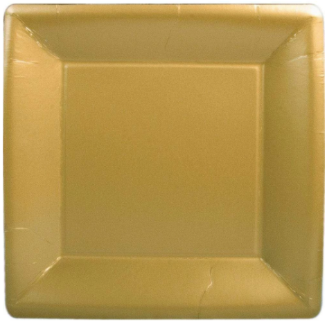 Gold Square Dinner Plate