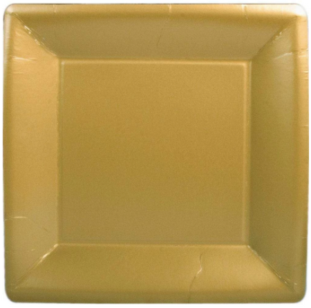 Gold Square Salad Plate