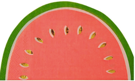 Watermelon Die Cut Napkins