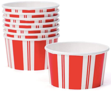Red and White Striped Awning Treat Cups
