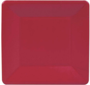 Red Square Salad Plate