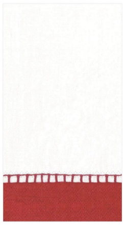 Red Bottom Border Guest Towel