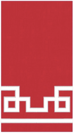 Red Rive Gauche Guest Towel