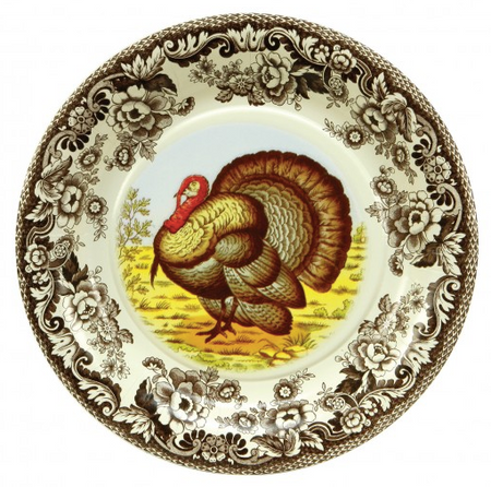 Woodland Thanksgiving Salad Plates