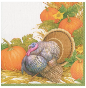 Thanksgiving Harvest Cocktail Napkins