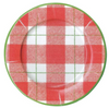 Red Plaid Check Guest Towels