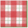 Red Plaid Check Luncheon Napkins