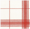 Belgian Red Plaid Guest Towels