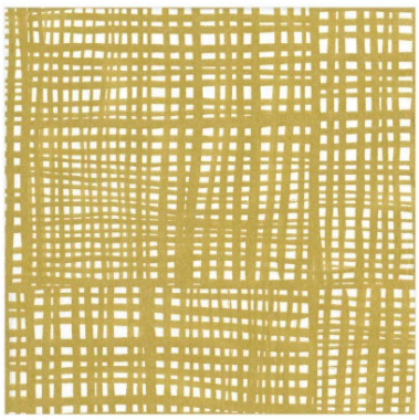 Gold Raffine Cocktail Napkins