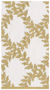 Gold and Ivory Acanthus Trellis Guest Towels