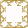 Gold and Ivory Acanthus Trellis Salad Plates