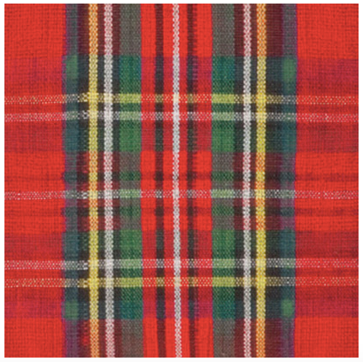 Red Classic Check Luncheon Napkins