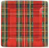 Red Classic Check Dinner Plates