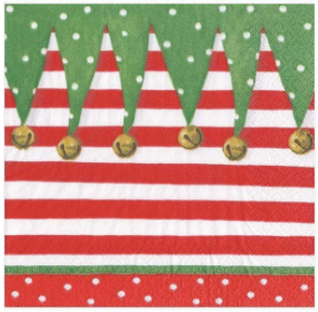 Stocking Stripe Christmas Cocktail Napkins