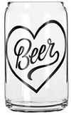 Easy Tiger Heart Beer Glass