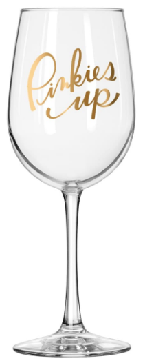"Easy Tiger ""Pinkies Up"" Wine Glass"