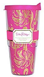 LIlly Pulitzer 24oz Insulated Tumbler with Lid - Gimme Some Leg