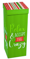Relax & Accept the Crazy Wine Glass
