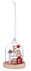 Glass Holiday Inspiration Ornament