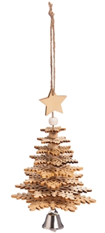 Wood Christmas Tree 3D Ornament