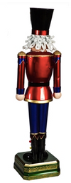 "Metal 52"" Nutcracker"