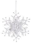 Large Wire and Glitter Snowflake Ornament
