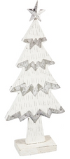 White Wood and Metal Christmas Tree Decoration
