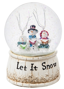 Let it Snow Musical Snow Globe